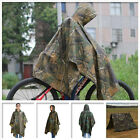 2017 Waterproof Army Hooded Ripstop Festival Rain Poncho Military Camping Hiking