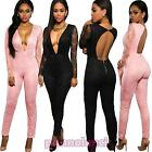 Overall woman onesie jumpsuit full suit trousers tight LACE new DL-1956
