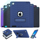 Heavy Duty Hybrid Shockproof Tire Silicone Hard Combo Case Cover For iPad 2/3/4