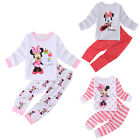 Cute Minnie Mouse Baby Kids Girls Pajamas Set Sleepwear Tops+Pants Size 2T-6T