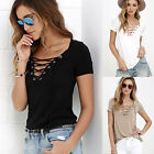 Fashion Womens Loose Pullover T Shirt Short Sleeve Cotton Tops Shirt Blouse CHIC