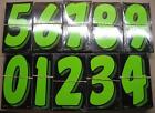 windshield numbers 7.5 in New 20 Dz Windshield Numbers Chartruese Fast Free Ship