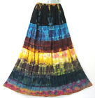 New Peasant Gypsy Funky Summer Tie Dye Long Skirt Colorful Multi color M L XL