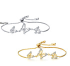 Crystal Drops Jewellery Set Gold Plated Earrings Necklace Pendant Ladies Gift