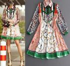 Wholesale 2017 Spring Occident New Fashion Week Hot Printing Lady Dress SMLXL