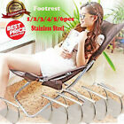 Stainless Steel Footrest Barbers Hair Chair Salon Foot Rest Equipment Tattoo AF