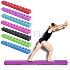 Gymnastics Folding Balance Beam 2.4M Kids Gym Suede Leather Home Training 8ft