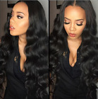 100% Remy Human Hair Body Wave Ombre Lace Front Wig Wavy Glueless baby hair 8-18