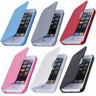 New Magnetic Flip PU Leather Flip Case Cover For iPhone 4/4S 5/5S 5C 6 Novelty