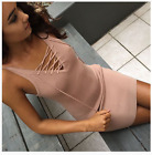 Fashion Women Summer Lace Up Sleeveless Party Evening Cocktail Short Mini Dress