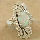 NOUVEAU ANTIQUE STYLE LAB OPAL 925 STERLING SILVER RING,                    #917