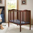 Fold-away Portable Crib with Mattress, Multiple Finish NEW