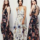 Vibrant Floral Tunic Summer Beach Picnic Prom Flower Garden Party Maxi Dresses