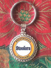 STERLING SILVER ROPE PENDANT W/ PITTSBURGH STEELERS b SETTING JEWELRY GIFT