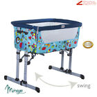 BABY Crib Bedside Cot bed with Mattress Next to Me From Birth Height Adjustable