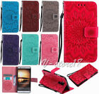 Relief Totems flower Slim Card slot wallet Pouch leather stand case for phones