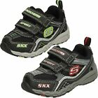 Infant Toddler Boys Skechers Hook & Loop Riptape Trainers - Bamboozle 95002N