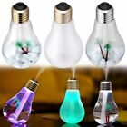 New 400ML Bulb Humidifier USB Desktop LED Lights Atomizer Air Purifier for Rooms