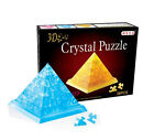 DIY 3D crystal model puzzle building toy assemble game Egyptian pyramid gift 1pc