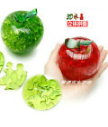 DIY 3D crystal model puzzle toy jigsaw assemble game red green apple gift 1pc