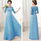 New Long Chiffon Bridesmaid Evening Formal Party Ball Gown Prom Dress