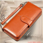 Women Leather Wallet Long Card Holder Case Lady Clutch Purse Handbag Phone Bag