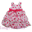 BNWT Place Girl Party Dress~ rose/pink polka dots white sundress~size4 5 6 7