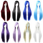 New Fashion Womens Hair Long Anime Wigs Cosplay Wigs Full Straight Novelty