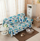 Blue Leaves Canvas SlipCover Sofa Cover OusL Protector for 1 2 3 4 seater LUSBT