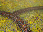 "ABORIGINAL ART PAINTING by GRACIE MORTON PWERLE ""BUSH PLUM DREAMING"""