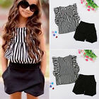 Hot Baby Kids Girls Summer Clothes Striped Tops Blouse Shorts Outfits Sets 2~7Y