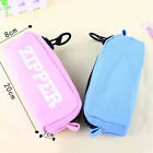 Students Pen Pencil Case Canvas Zipper Bag Cosmetic Makeup Pouch Coin Purse Box