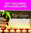 beauty salon gift vouche with envelopes fast free delivery uk seller
