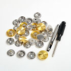 8x 25mm Metal Snap Fasteners w/Screw Screwdriver Punch For Car Mat LeatherCraft