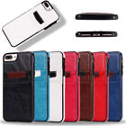 Leather Shockproof Hybrid Hard Wallet Case Cover For iPhone 6 6s Plus 7 Plus
