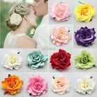 Colorful Women Bridal Rose Flower Hairpin Brooch Bridesmaid Wedding Hair Clip