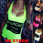 UK Womens Summer Loose Casual Sleeveless Vest Shirt Tops Blouse Ladies Tops