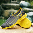 Unisex Couple's Mesh Cloth Slip-on Light Breathable Driving Beach Upstream Shoes