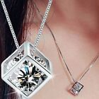 Women's Silver Plated Chain Crystal Rhinestone Necklace Pendant Fashion  Jewelry