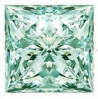 1.00 Carat to 3.00 Carat Rare Green princess cut Loose Moissanite NR for sale