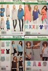 Simplicity 1014, 1198, 1199, 8016  Misses Knit Tops Sizes: XXS-XXL  You Pick NEW