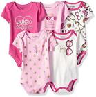 Juicy Couture Infant Girls Pink & Hot Pink 5pc Bodysuit Set Size 0/3M 3/6M 6/9M