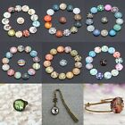 Necklace Bracelet Craft DIY Glass Cabochon 10/50PC 12mm Round Flatback 26Pattern