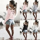 Womens Long Sleeve Sweatshirt Pullover Ladies Casual Tops T-Shirt Blouse K0E1