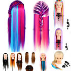 Colorful Long Hair Mannequin Doll Practice Head Hairdressing With Clamp DH1