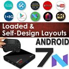 Android 7 Nougat  SPMC Quad Core RK3328 Stream TV Box I8 Keyboard Exodus