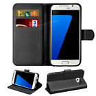 Premium Leather Flip Wallet Case Stand Cover Black Brown for Samsung A3 A5 2017