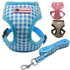 XS TINY DOG HARNESS LEAD SET CHECK TEACUP MINI PUPPY CHIHUAHUA RABBIT CAT TOY