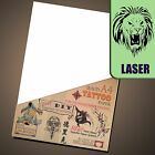 New LASER Temporary Tattoo Transfer Paper - Movie fx - DIY Waterproof Tattoos