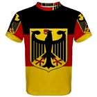 New Germany German Flag Sublimated Men's Sport Mesh Tee t shirt FREE SHIPPING